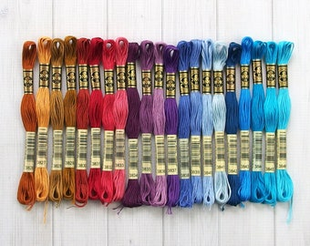 DMC Floss, Colors 3826-3846, 6-Strand Cotton Thread for Embroidery, Cross Stitch and Needle Arts
