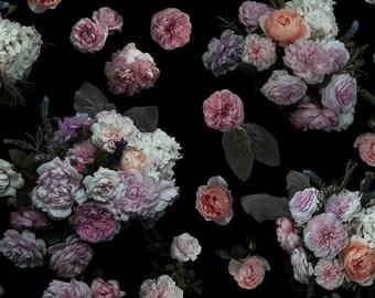 Grace Rose REMOVABLE Fabric Wallpaper Tile