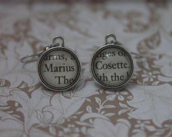 Cosette~Marius Earrings ~ Les Miserables ~ Victor Hugo ~ Les Mis