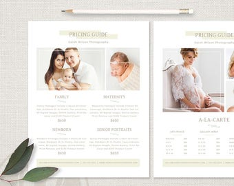Lifestyle Photography Pricing Template - Children's Photography Pricing Guide, Family Photography Price List, Newborn Pricing Guide