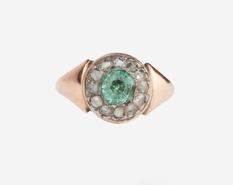 A Victorian Zircon and Diamond Ring