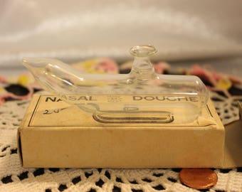 Antique Nasal Douche Glass Nettie Pot Nasal rinse