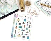 """DOODLE """"MAY"""" SAMPLER Paper Planner Stickers - Mini Binder Sized/3 Hole Punched"""