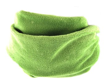 Spin Kiwi green plush fleece scarf