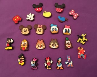 Mickey Mouse Clubhouse Shoe Charms for Crocs, Silicone Bracelet Charms, Party Favors, Jibbitz