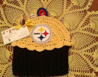 College/Professional Sports Teams Cupcake Washcloth/Dishcloth/Cotton Washcloth/Dishcloths/Crocheted with 100% Cotton
