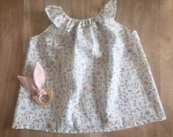 Child in Liberty Theo Pastel frill collar top