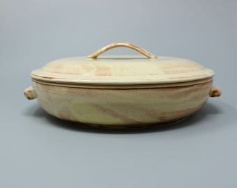 Ceramic Casserole, Baking Dish ,Ceramic Bowl , Serving Dish,Cookware,Lidded Ceramic Dish,Oven Safe,Casserole with Lid,Housewarming Gift