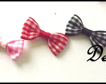 X 20 Pack of 20 gingham bows