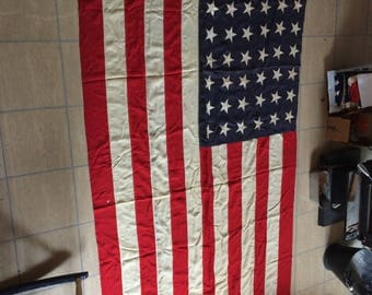 48 star US flag from 1940s 6x9 burial size