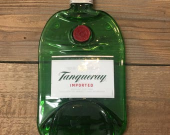 Tanqueray Gin serving tray - Melted Glass Gin Cheese Plater
