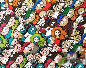 100*140cm 2 Colors South Park Twill Cotton Elastic Fabric