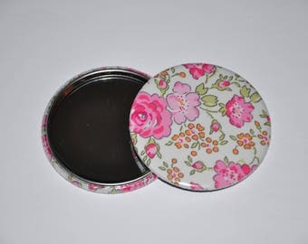 Mirror 59 mm fabric liberty of London Felicite pink 6