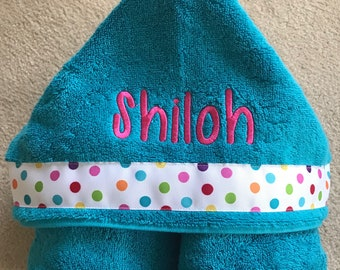 Kids Personalized Hooded Towel