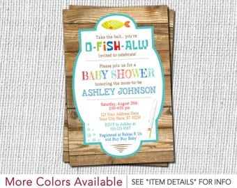 Fishing Baby Shower Invitation - Fishing Theme Invitation