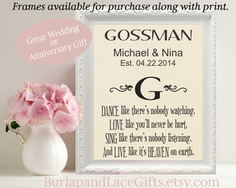 Wedding Gift for Couple Gift for Wife Gift for Husband Personalized Gift to Wife Personalized Gift to Husband Engagement Weddings (mono105)
