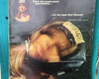 February 1970 Issue of Esquire Magazine ~ ESQUIRE Men's Magazine ~ Man Cave Decor ~ Mixed Media Supply ~ Scrapbooking Supply