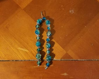 Gorgeous turquoise & silver keychain