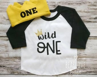 Wild One Birthday Outfit   Wild One Raglan Shirt   First Birthday Shirt   Wild One Shirt   1st Birthday   Cake Smash Outfit   Photo Prop