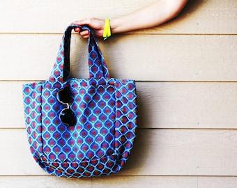 Blooming Blue Shopping Bag/ Laptop Bag/ Tote Bag/Large Tote
