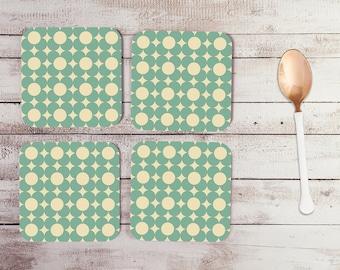 Block Flower Coasters