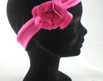 Ban001 - Headband in jersey pink / fuchsia