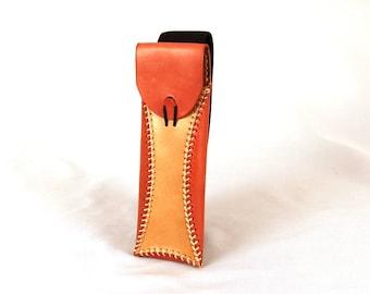 Red Leather Pen Case, Pen Case, Leather Pen Holder, Handmade Leather Pen Case, Pencil Case, Leather Pen Cover, Leather Pen Pouch.