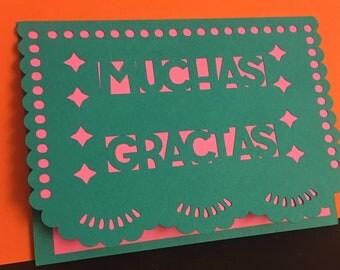 Papel Picado Thank You Card