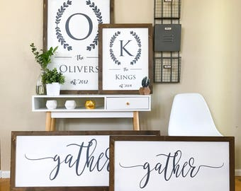 dining room sign gather sign dining room wall art pallet wall