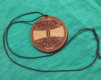 "Tree of life Celtic knot 2"" laser cut pendant"