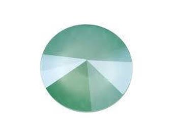 SWAROVSKI 1122 14mm Rivoli - Mint Green