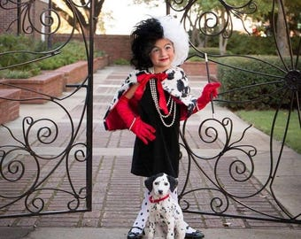 Cruella deville costume bolero shawl scarf cape adult and children's sizes