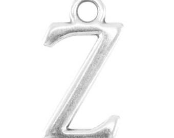 DQ Letter Pendant-1 piece-15 mm-Zamak, silver plated-letter selectable (letter: Z)