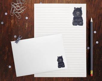 Black Terrier Letter Writing Set
