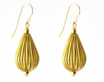 Gold Drop Earrings, Gold Boho Earrings, Boho Earrings, Dangle Boho Earrings, Dangle Bead Earrings, Gold Dangle Earrings, Bohemian Earrings