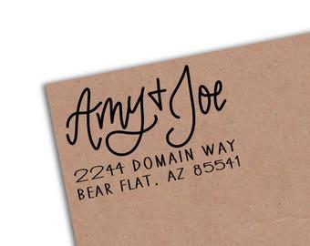 Hand Lettered Return Address Stamp