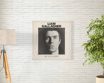 """Liam Gallagher Poster - As You Were Debut Studio Album Music Cover - English Singer Songwriter Art Print - Size 12x12"""" 18x18"""" 24x24"""" 32x32"""""""