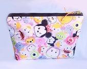 Tim Sum - Mouse, Squirrel, Winnie, Elephant,  Zipper Pouch, Cosmetic Purse, Multi-purpose Pouch