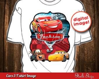 Cars 3  Iron On Transfer Shirt Printable - Cars Labels Printable DIY, Printable 8.5x11, Cars favor, Cars 3 Labels - Customized Digital File
