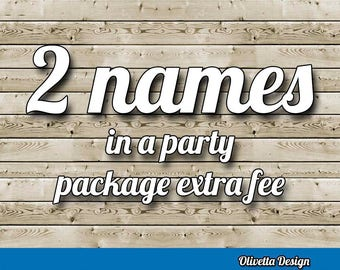 2 names in a party package