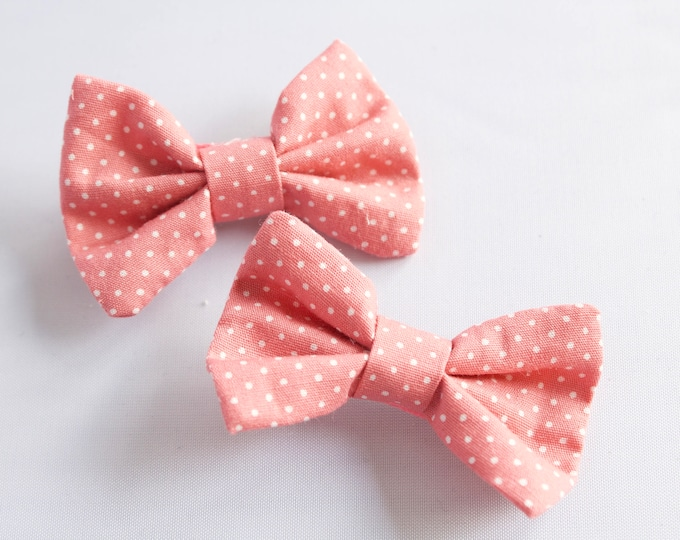 Pink Bow hair Clips