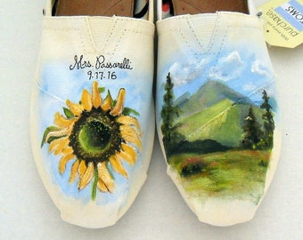 Wedding Shoes Engagement Gift Bride's Love Story Shoes Wedding TOMS Custom Wedding Shoes Unique Wedding Shoes Gift for Bride Wedding Flats