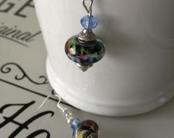 Italian Murano Crystal Beaded Earrings