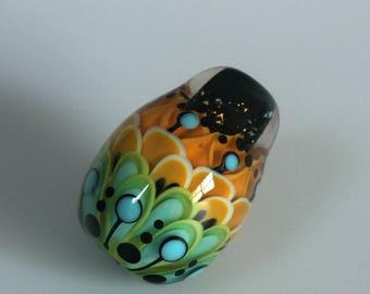 Lili - Lampwork focal lentil bead