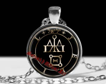 LOVE, SEX & WISDOM talisman, Jeliel Angel seal pendant, amulet against enemies, angelic necklace, #365.2
