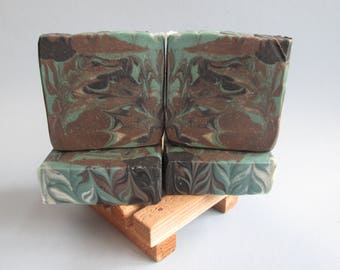 Tobacco, Men's Soap, Artisan Soap, Bar Soap, Great Gifts For Men, Guy Gift, Brown, Black, Soap, Handmade, Hand Crafted, HandCut, Men's Gifts