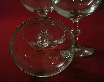 Set of 3* Spindle Stem Champagne Coupe Glasses