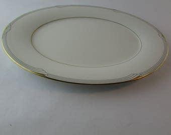 "Vintage Noritake Golden Cove China 13 1/2"" Serving Platter Tray Plate 7719"