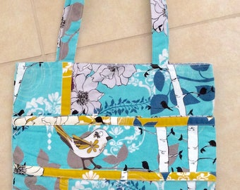 Tote, Repurposed Cotton Fabrics. 14 x 12. Fully Lined.