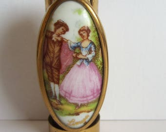 Vintage Limoges Lipstick Holder with Mirror